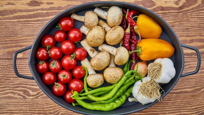 Zöldséges és gombás gabonakása