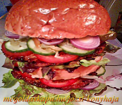 Dupla csirkeburger