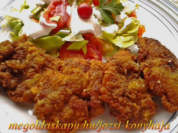 Fokhagymás-chilis tejben pácolt csirkemáj rántva