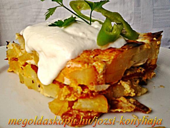 Kolbászos rakott krumpli