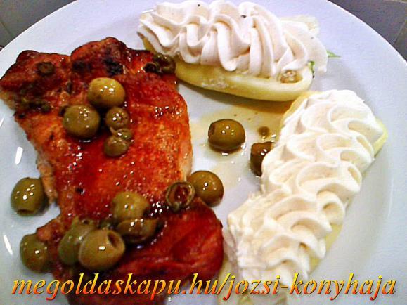 Olívabogyós rozmaringos csirkecomb filé