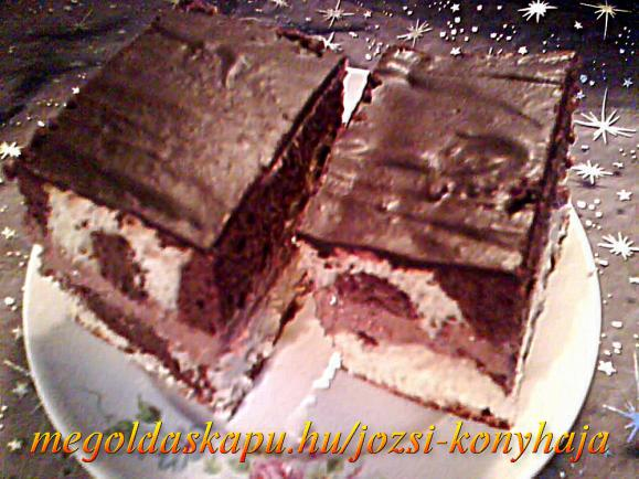 Triplán csokis süti