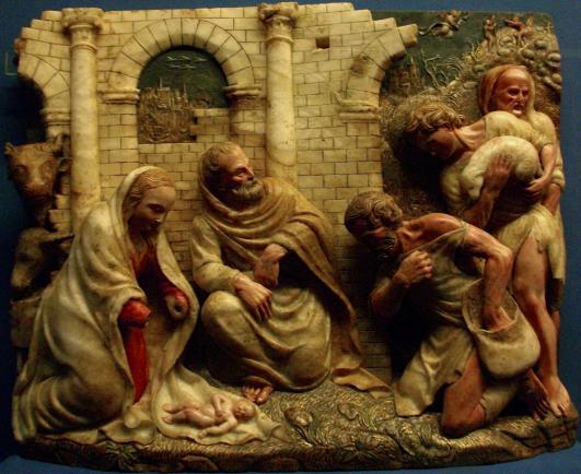 Damián Forment: Pásztorok imádása, alabástrom