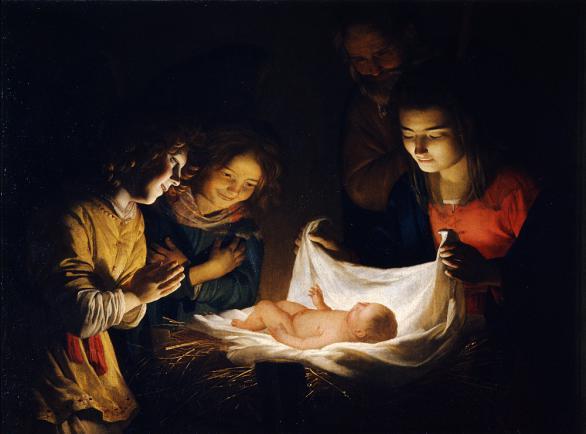 Gerard van Honthorst: A Gyermek imádása