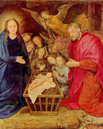Hugo van der Goes: A pásztorok imádása Betlehemben