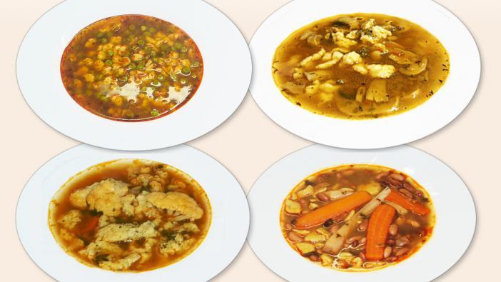 A kényszerhelyzetek néha bámulatosan egyszerű megoldásokat váltanak ki belőlünk. - bableves, húsleves, karfiolleves, paradicsom leves...
