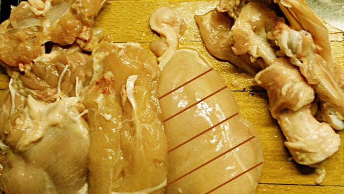 Csirke filézése